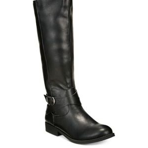 Style & Co Black Riding Boots